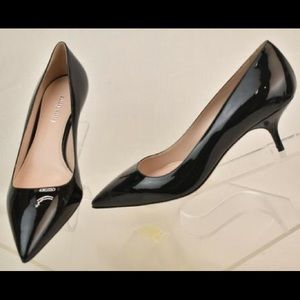 Miu Miu Patent Pointed Toe Low Heel Pumps 38.5